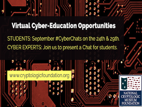 September Virtual Cyber Education & Teaching Opportunities