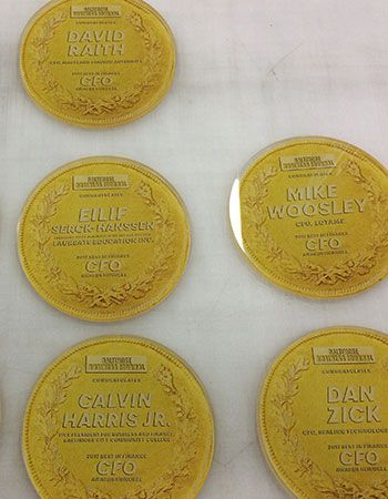 Acrylic Plaques/Standup for BBJ CFO award