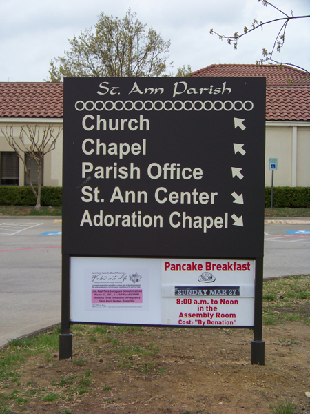 Post & Panel Directional Sign