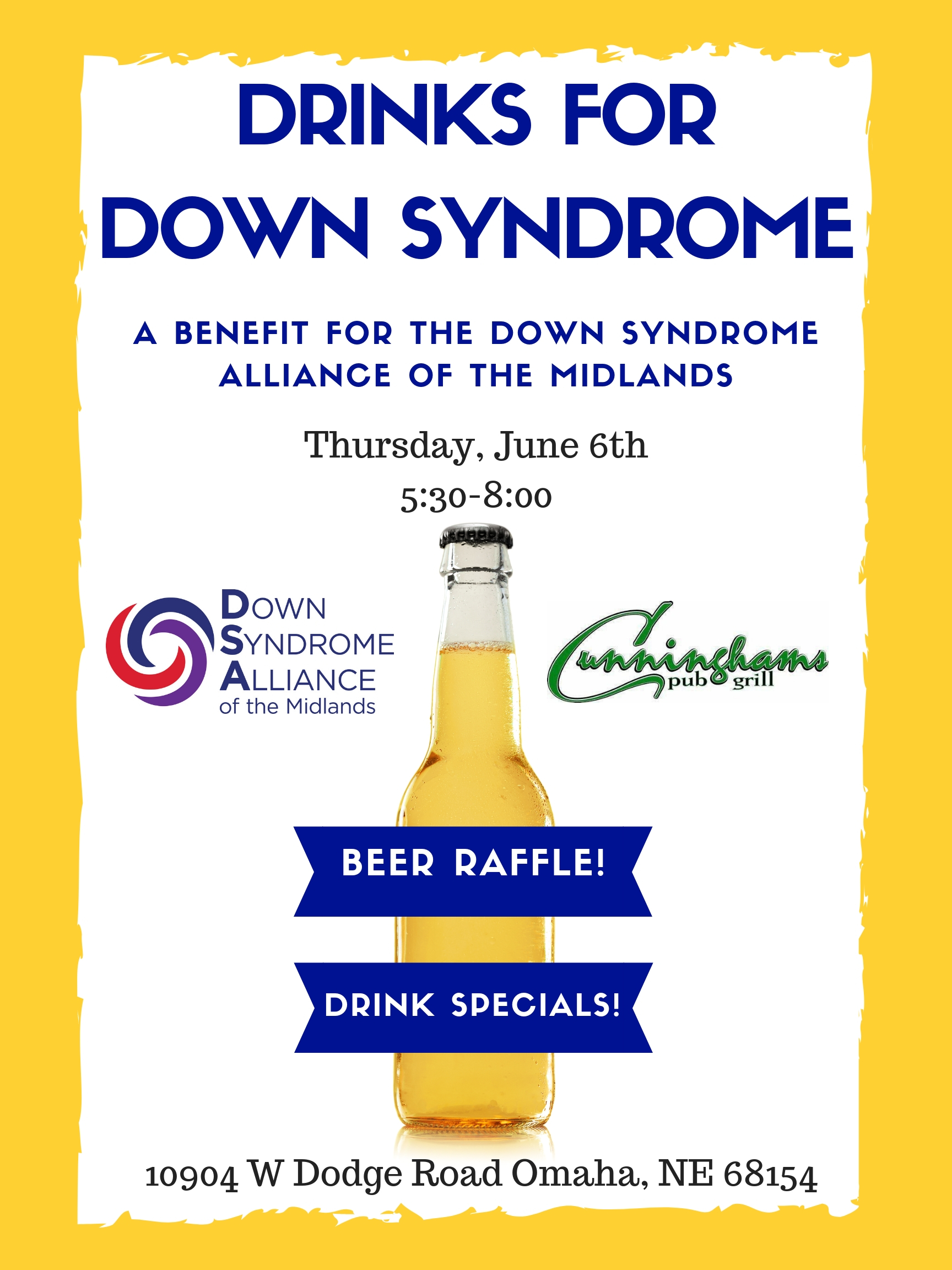 Happy Hour Fundraiser! Drinks for Down Syndrome