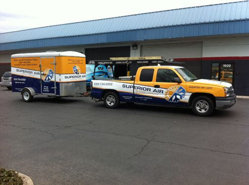 Truck and Trailer Wrap: Superior Air