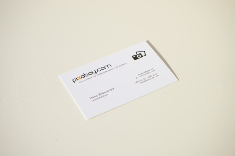 pixabay business card with clean white space