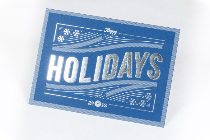 Foil Stamped Holiday Card