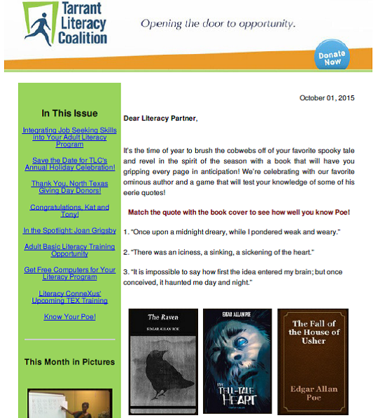 October 2015 Newletter