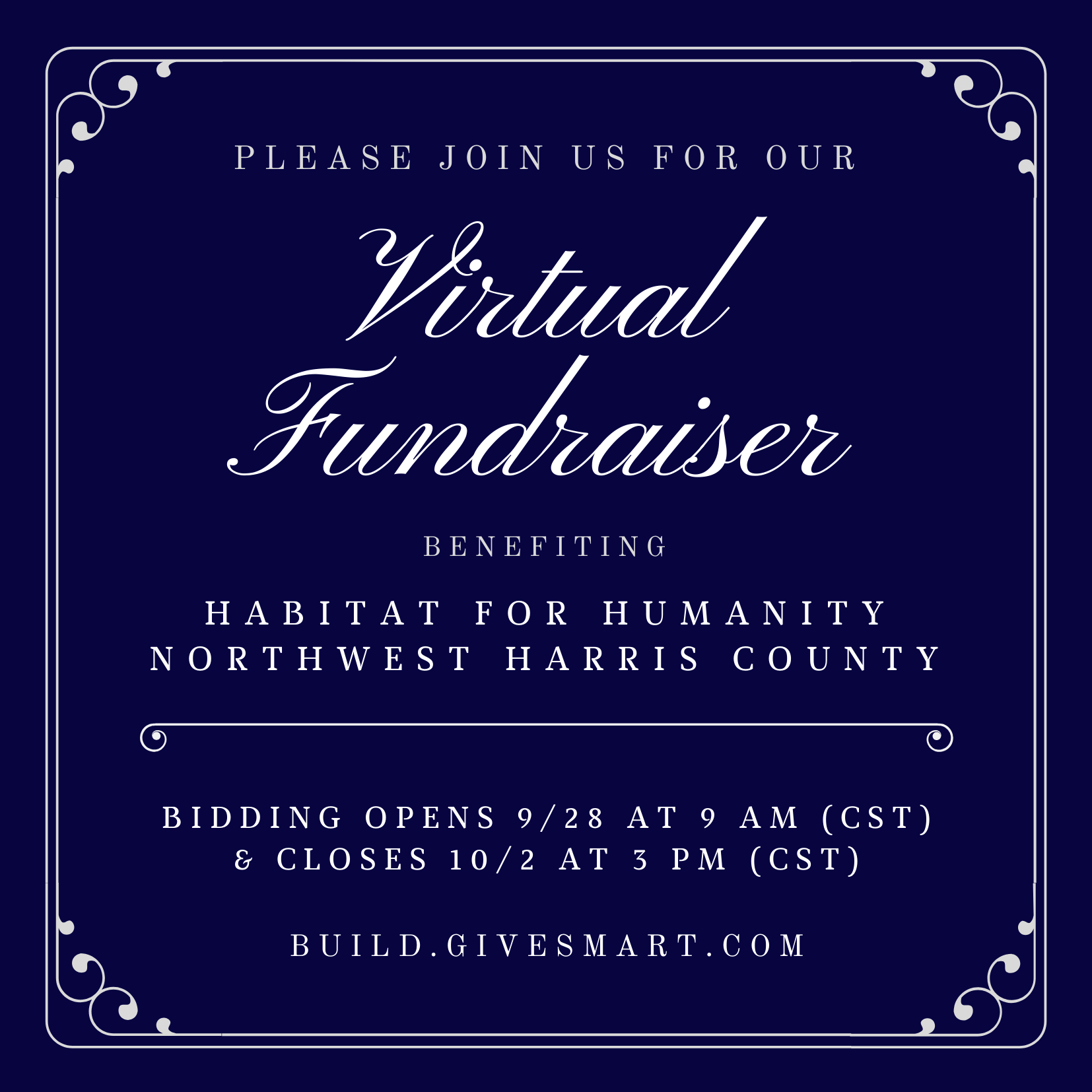 Join Us For A Virtual Fundraiser