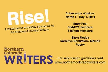 Call For Submissions: 2019 North Colorado Writers Open Call for Anthology Submissions
