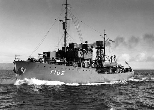 1943: New Zealand corvettes disable Japanese submarine and seize codebooks.