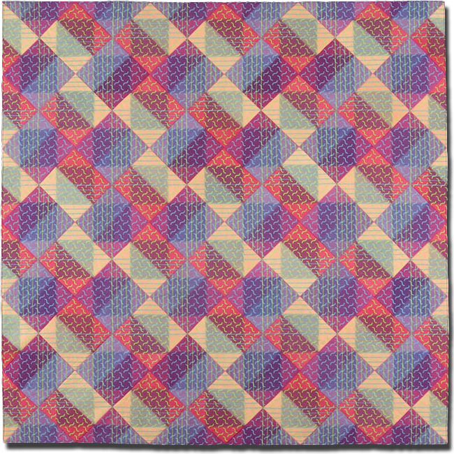 'PW Block #5,' Made by Ellen Oppenheimer, Made in Oakland, California, United States, Dated 2003, 65 x 65 in, IQSC   2004.022.0001