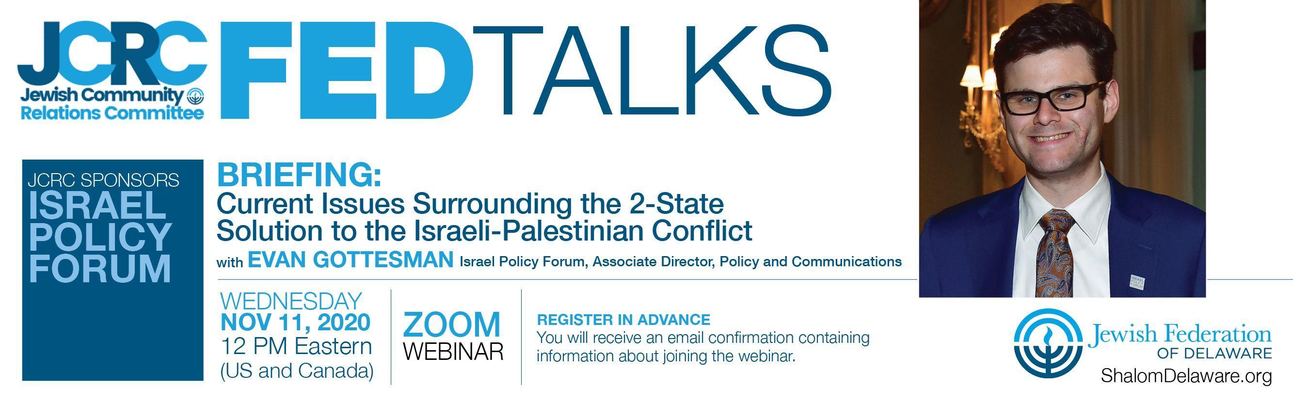 JCRC FED Talk: Israel Policy Forum
