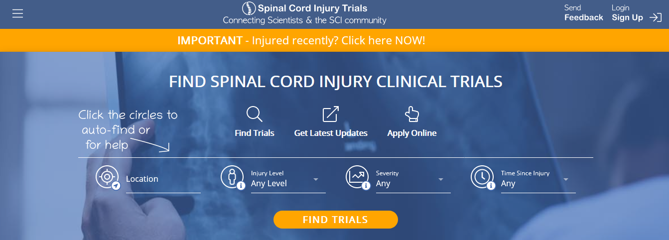Spinal Cord Injury Trials