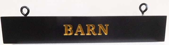 "P25145 - Engraved HDU ""Barn"" Sign"