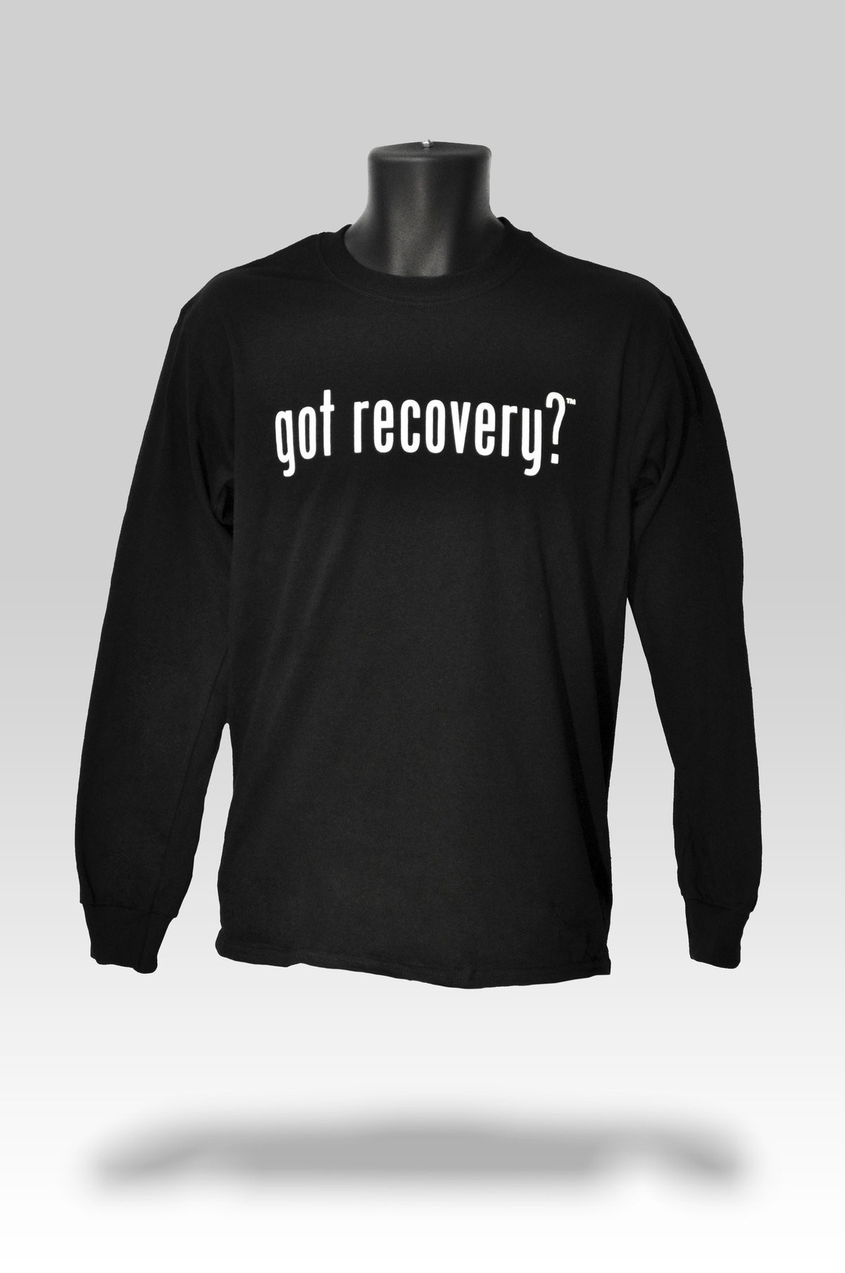 Got Recovery? Long Sleeve T-Shirt in Black (Medium)
