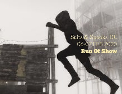 Suits & Spooks 2020-DC Run of Show