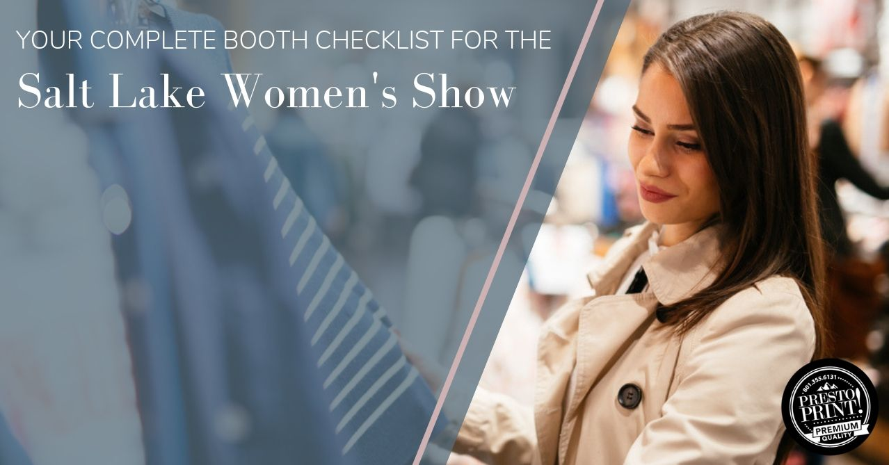 Your Complete Booth Checklist for the Salt Lake Women's Show