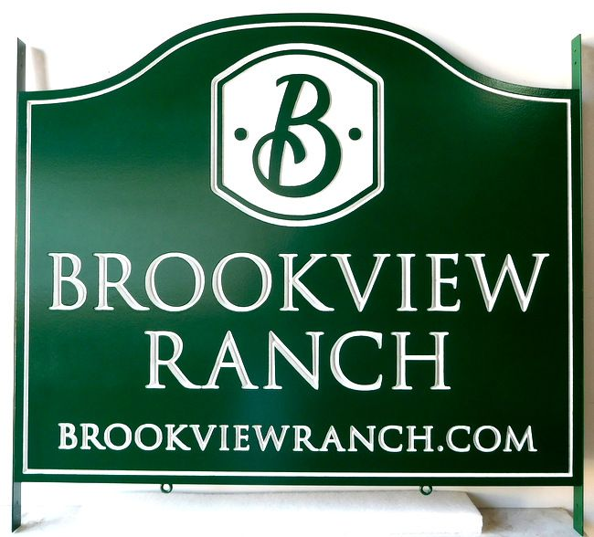 O24007 - Engraved HDU Sign for the  Brookview Ranch