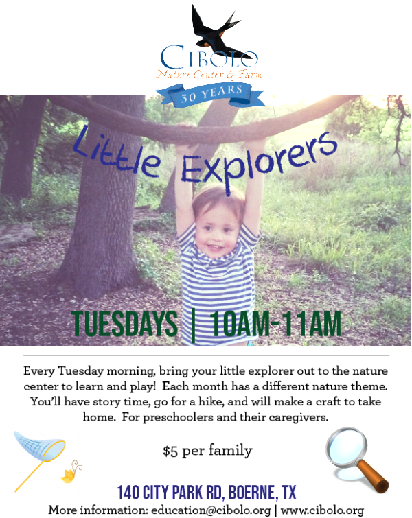 CNC: Little Explorers - Backyard Wildlife!