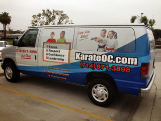 Fleet van wraps Orange County