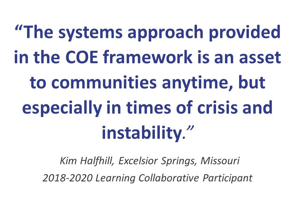 We are now accepting applications for 6 new communities for the 2020-2021 National Learning Collaborative 4th Cohort