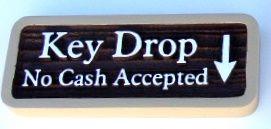 KA20546 - Carved WoodGrain HDU Sign for Rent Drop No Cash Accepted