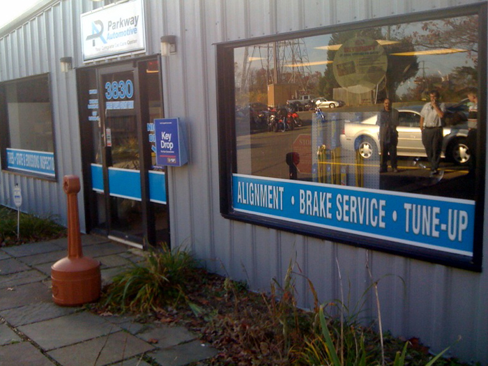 Parkway Automotive Storefront Signs