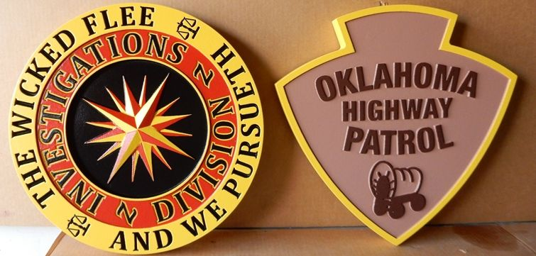 X33758 -  Two Wall  Plaques Made  for the Oklahoma Highway Patrol
