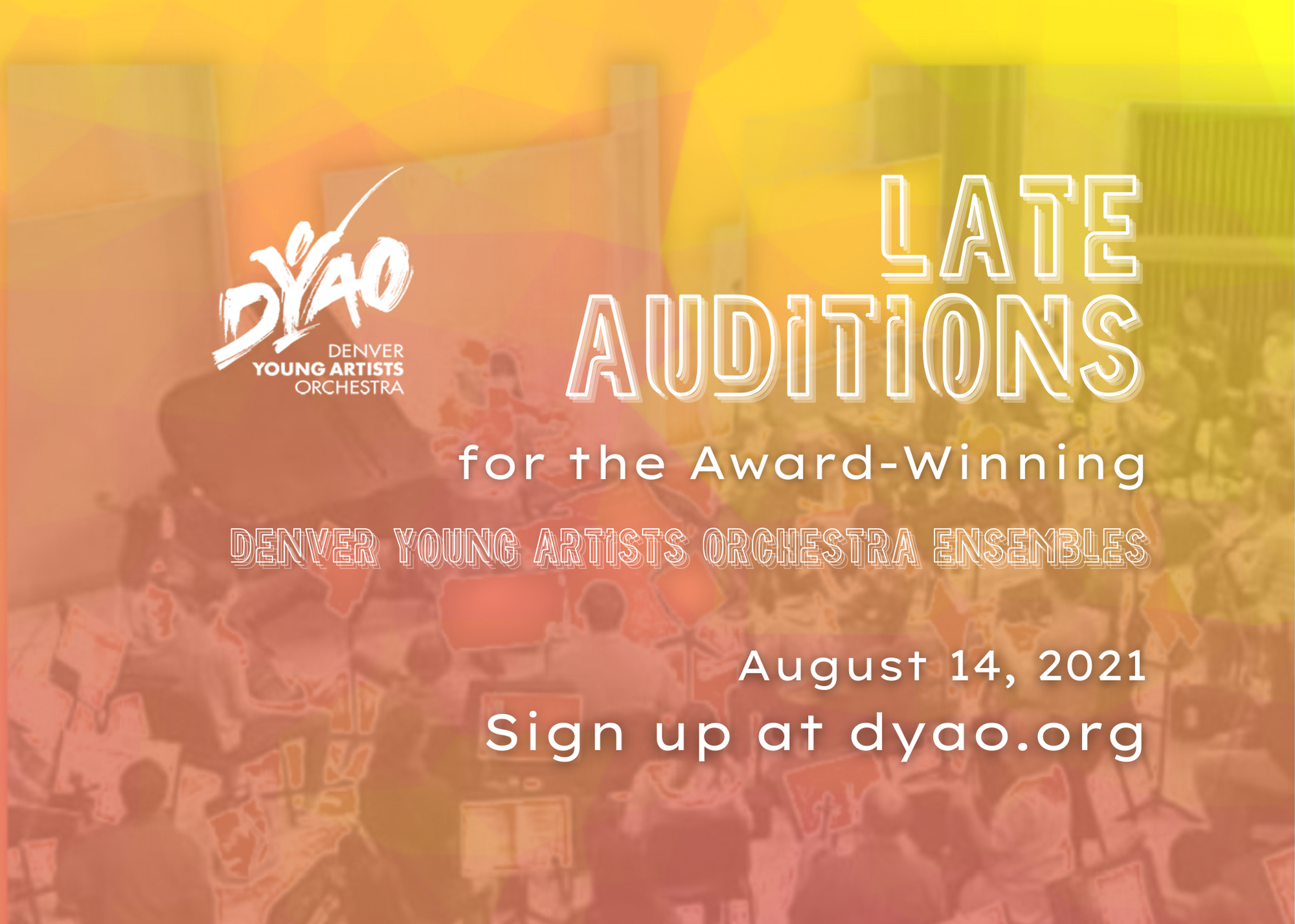 Late Auditions 2021-2022