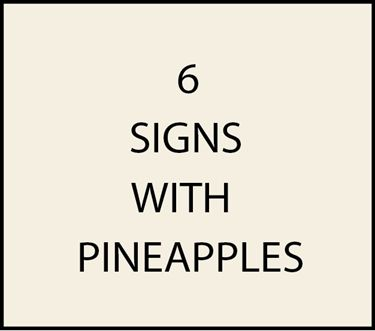 6. - I18450 - House and Estate Address Signs with Carved Hand-Painted Pineapples