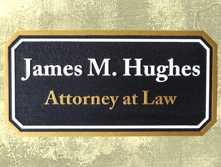 A10136 - Sandblasted HDU Attorney Sign