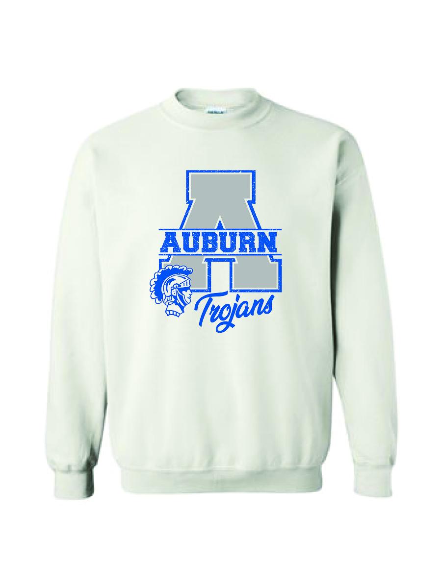 Auburn Football Crew Neck White
