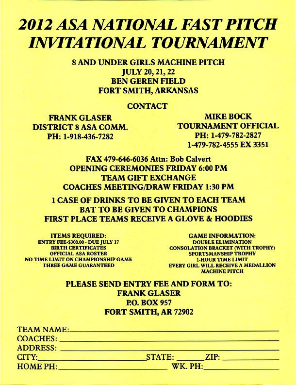 8U Machine Pitch NIT Info