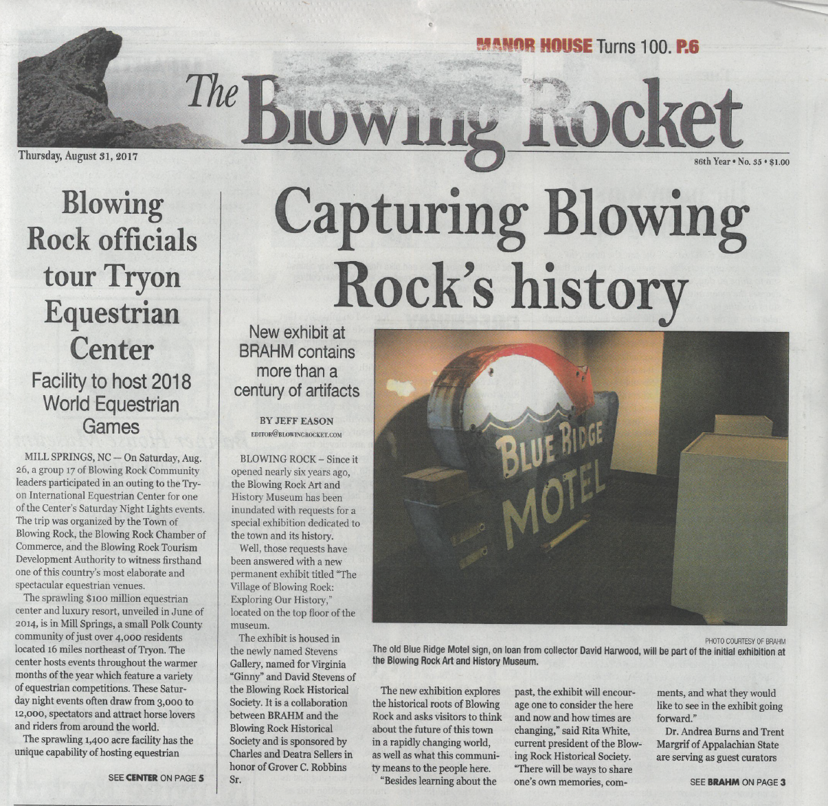 Capturing Blowing Rock's History