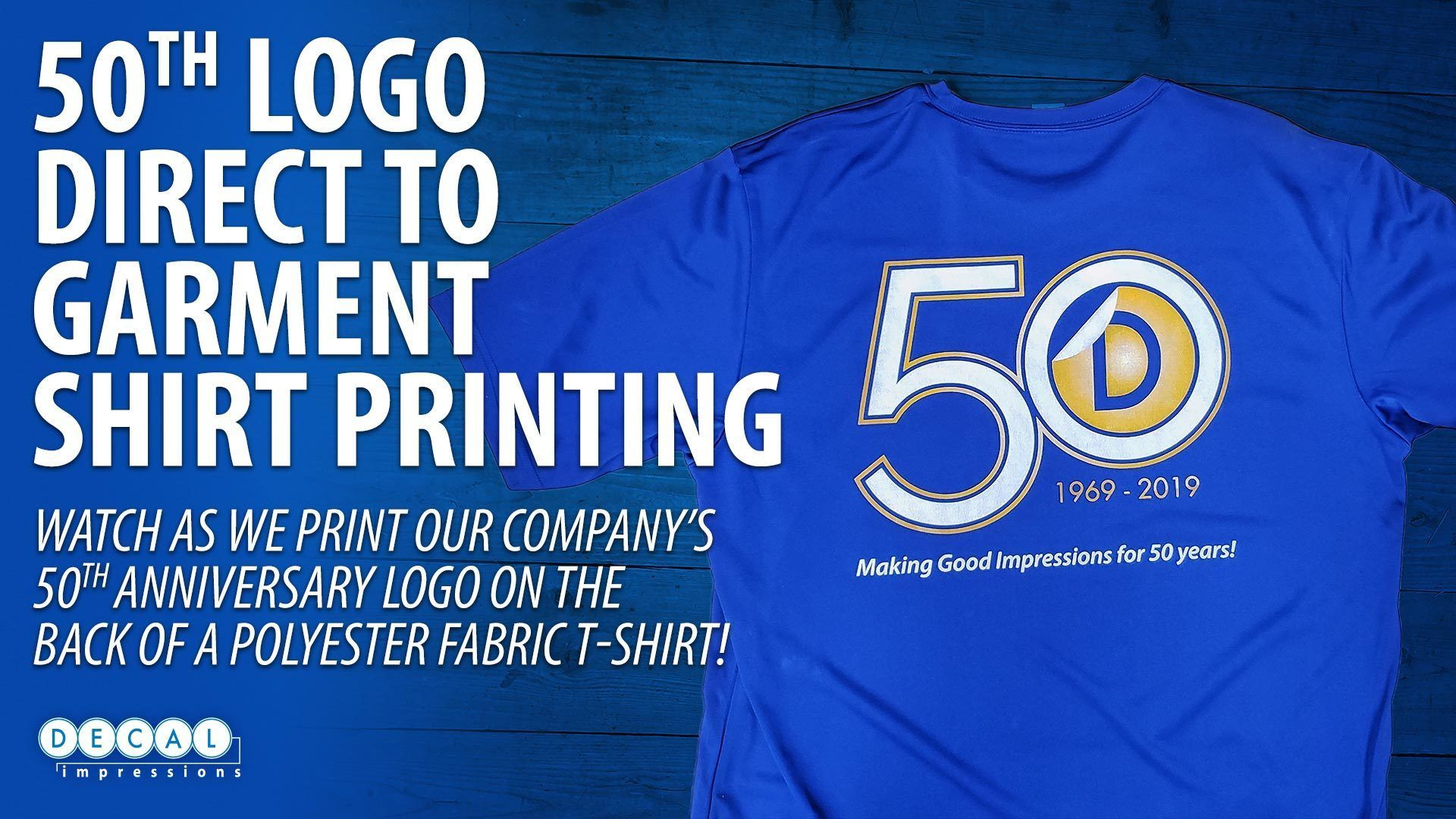 Direct to Garment 50th Anniversary Polyster Print