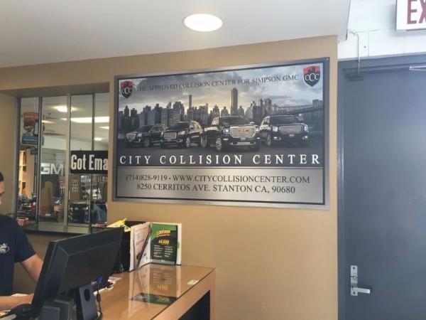 Signs for auto collision centers in Orange County CA