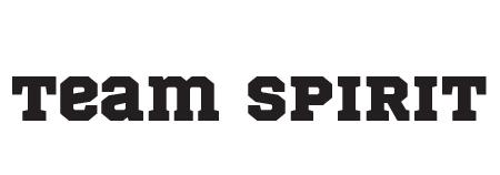 "Font Choice ""Team Spirit"""