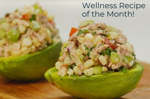Tuna-Stuffed Avocados with Corn Salsa