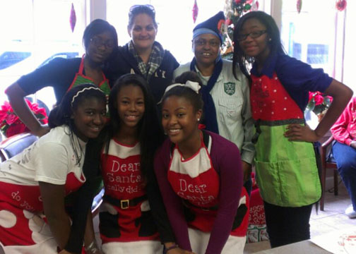 Day Center Guests Enjoy Holiday Cheer