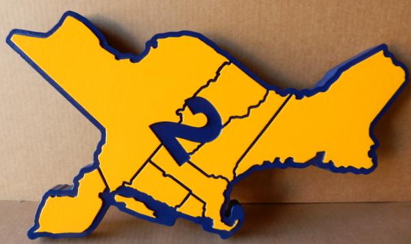 W32145 - Carved HDU Wall Plaque of NE US Region