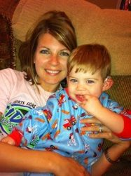 Photo of mom, Elise and son, Hunter