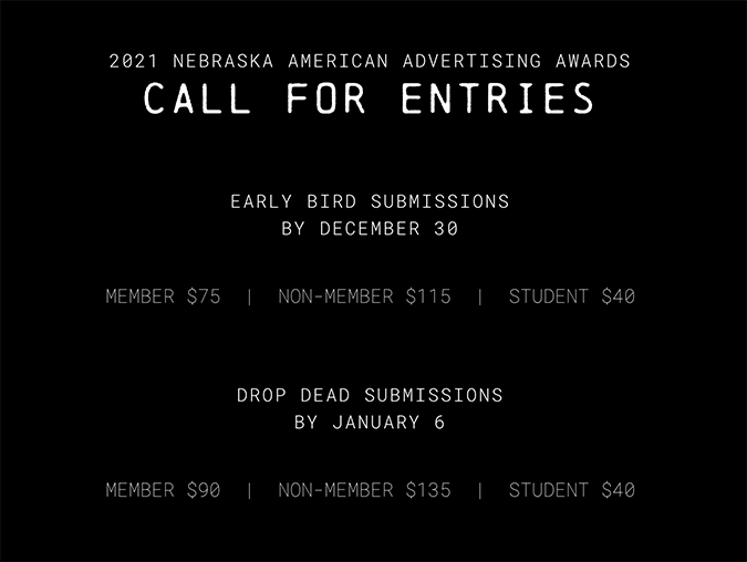 Nebraska American Advertising Awards: Call for Entries