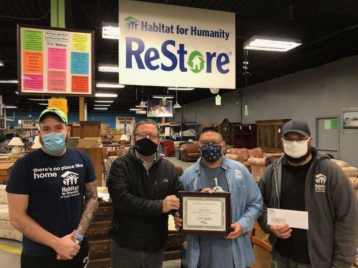 ReStore Volunteer Manny is a Walden Savings Bank Community Champion