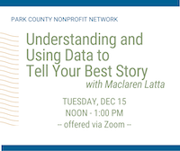 VIDEO LINK: Using Data to Tell Your Best Story