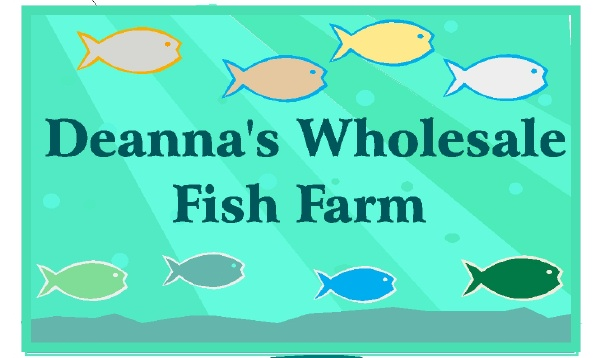 Q25134 - Design of Carved HDU or Wood Sign for Wholesale Fish Farm with Swimming Fish