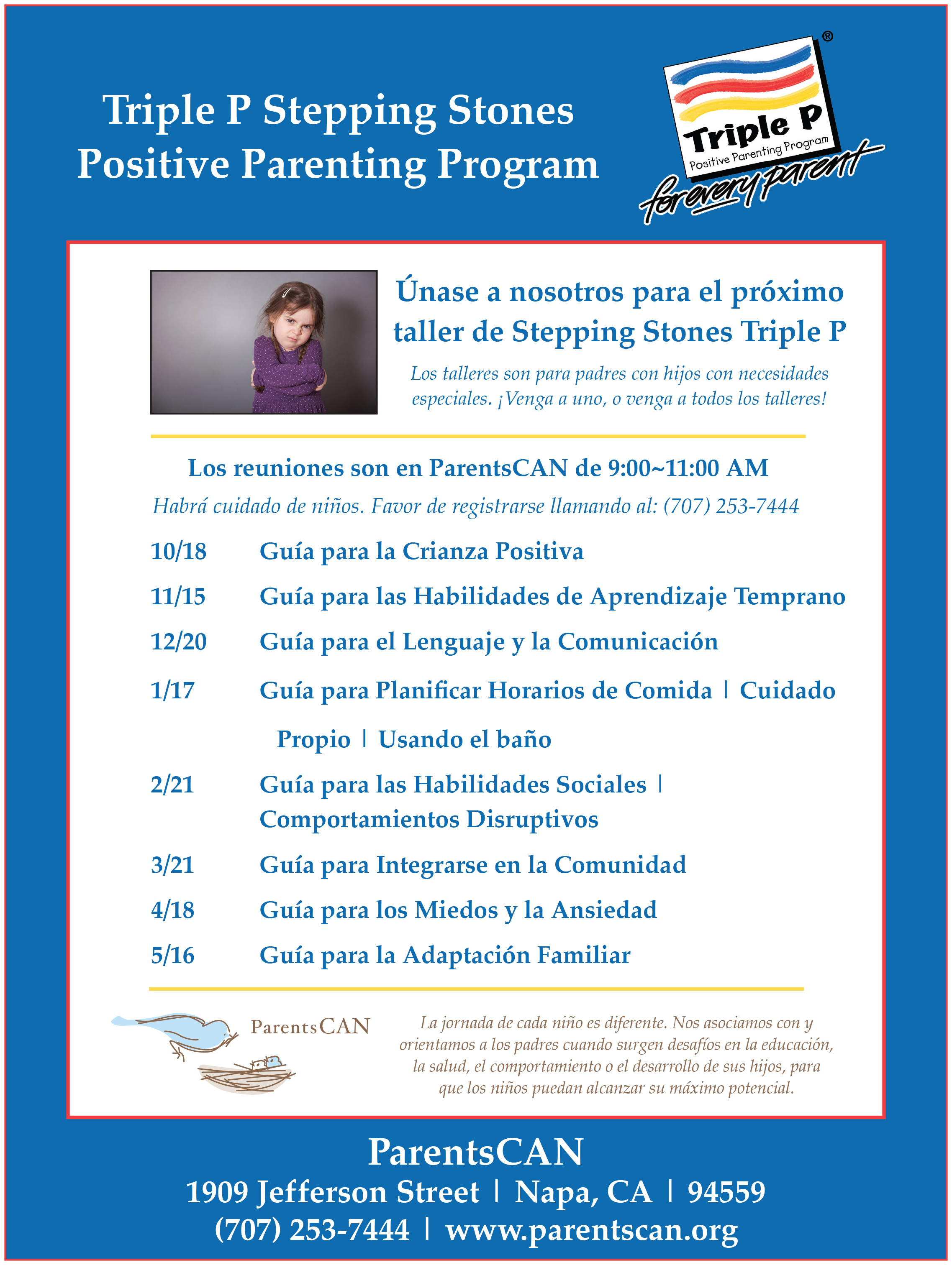 Stepping Stones Flyer Spanish