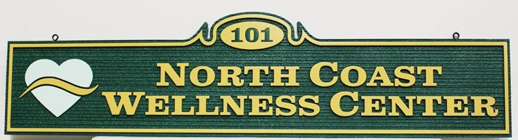 B11090 -  Carved and Sandblasted sign for the North Coast Wellness Center