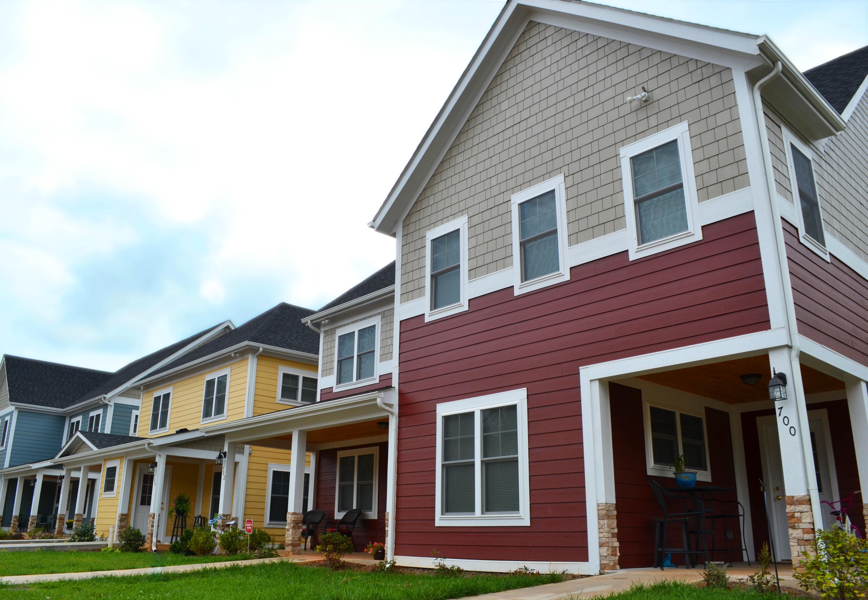 Habitat homes in Belmont Cottages