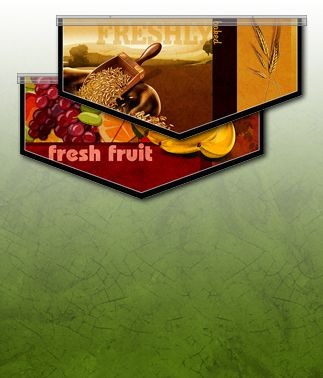 Designer Food Art Banners