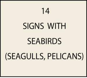 L21600 - Signs with Seagulls, Pelicans, Cranes, Eagles and other Waterfowl