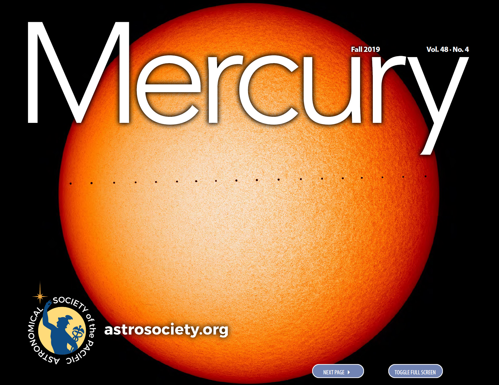 Mercury, Fall 2019 (vol. 48, no. 4)