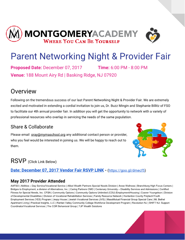 Parent Networking Event at Montgomery Academy