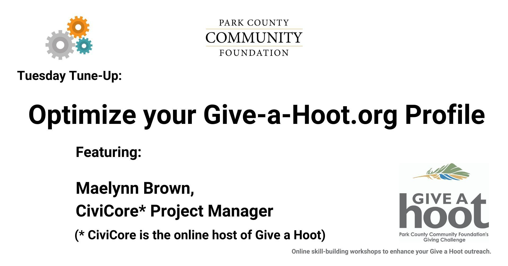 Optimize Your Give-a-Hoot.org Profile